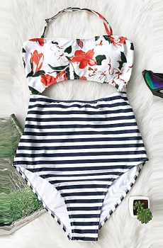Swimwear Kenya. Floral attractive one-piece bikini.